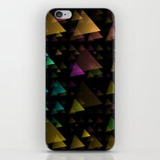 Drifting Triangles iPhone & iPod Skin