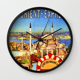 Retro travel poster — Istanbul, Wall Clock