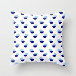 Wild polka dot 1- Blue Throw Pillow