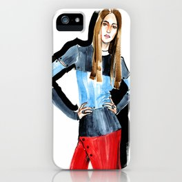 Fashion #16. Long-haired girl in fashionable dress-transformer iPhone Case