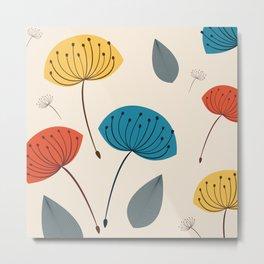 Dandelions in the wind Metal Print
