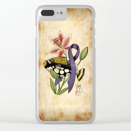 Clown Triggerfish and Awareness Clear iPhone Case