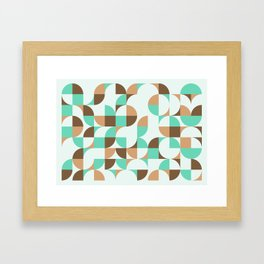 Mint and Chocolate Fresh Pattern Framed Art Print