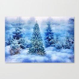 Christmas tree scene Canvas Print