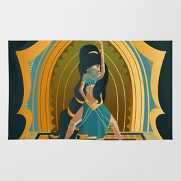 arabian belly dance dancer girl Rug