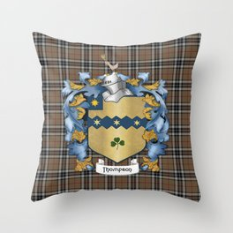 Thompson Crest and Tartan Throw Pillow