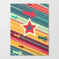 space dandy Canvas Prints featuring A Dandy guy... In Space! by Ben Huber