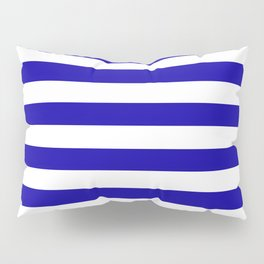 Blue And White Stripes Anchor Pillow Sham