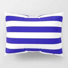 Blue And White Stripes Anchor Pillow Sham