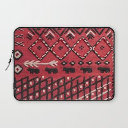 V22 Sheep herd Design Traditional Moroccan Carpet Texture. Laptop Sleeve