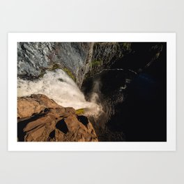 Fear of Heights - Palouse Falls Art Print