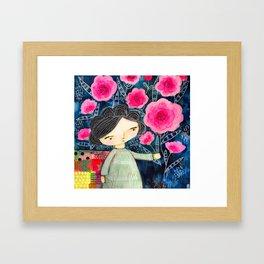 Quilted Princess Framed Art Print