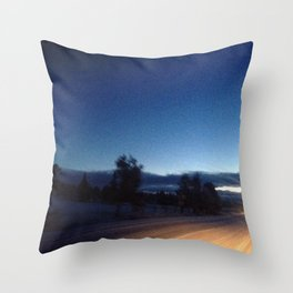 Oncoming Lights  Throw Pillow