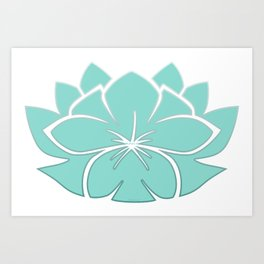 M Designs co lotus plumeria blossom Art Print
