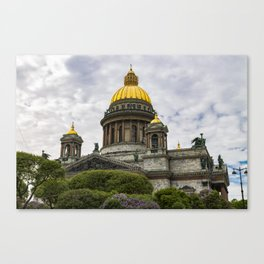 Saint Isaacs Cathedral Saint Petersburg Canvas Print