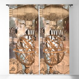Steampunk Airship Blackout Curtain