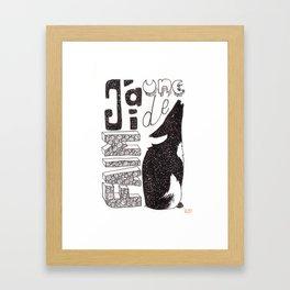 Une faim de loup Framed Art Print