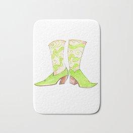 Funky Green Boots Bath Mat
