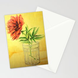flower in a glass . illustration  ( https://society6.com/totalflora/collection ) Stationery Cards