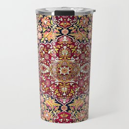 Esfahan Antique Floral Persian Rug Print Travel Mug