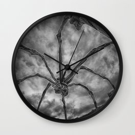 Attack of the spider Wall Clock