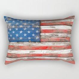USA Vintage Wood Rectangular Pillow