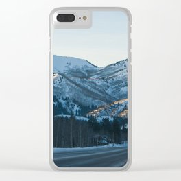 Winter Road Clear iPhone Case
