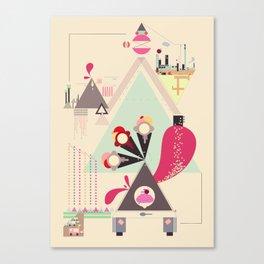 Icecream Volcano Canvas Print