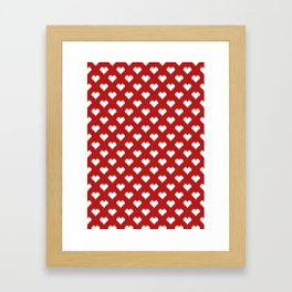 Valentine's Day Pattern Framed Art Print