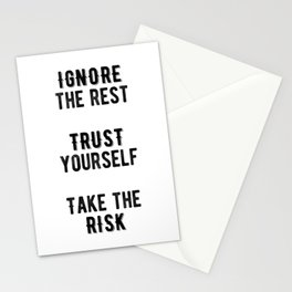 Inspirational -Take The Risk Stationery Cards