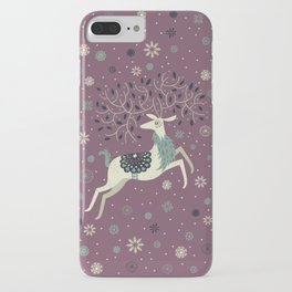 Prancing Reindeer iPhone Case