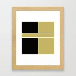 Team Color 6...black,gold Framed Art Print