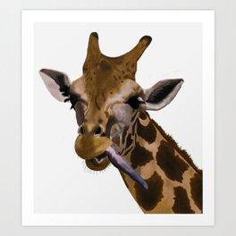 la jirafa Art Print