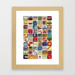 Antique Condoms Framed Art Print