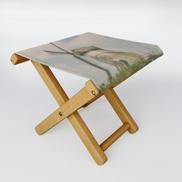 A mill in rural The Netherlands Folding Stool