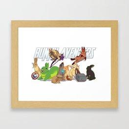 bunny 'vengers Framed Art Print
