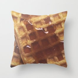 Waffles With Syrup Throw Pillow