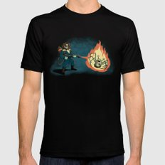 KILL IT WITH FIRE Black Mens Fitted Tee 2X-LARGE