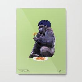 Helmet Gorilla Metal Print