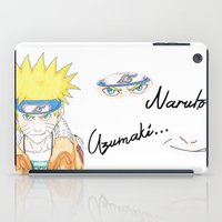 naruto iPad Cases featuring Naruto Uzumaki by rosalia