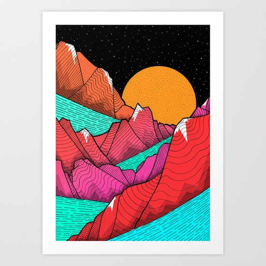 The islands and the sea Art Print
