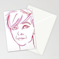 Pink Portrait Stationery Cards