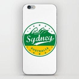 Sydney City, Australia, circle, green yellow iPhone Skin