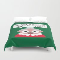 The Claus Come Out Duvet Cover