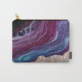Violet fire agate - rose gold glitter Carry-All Pouch