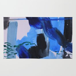 Abstract Blue Rug