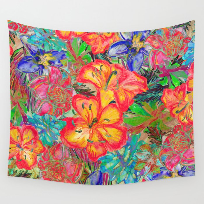 My Tropical Garden 6 Wall Tapestry