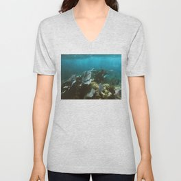 Mexican Caribbean Sealife Unisex V-Neck