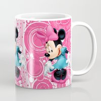 minnie mouse Mugs featuring Minnie Mouse Cartoon by Maxvision