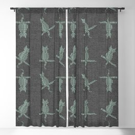 Rustic Cozy Funny Cats Blackout Curtain